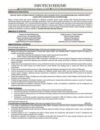 IT resume samples - IT Project Manager