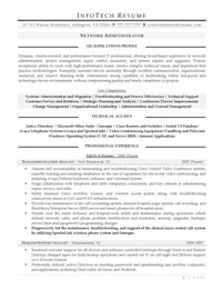 IT resume samples - Network Administrator
