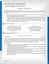 IT resume samples - Project Manager