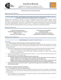 IT resume samples - Senior Application Developer