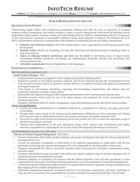 IT resume samples - Senior Business System Analyst