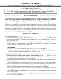 IT resume samples - Senior Program Manager