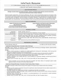 IT resume samples - Senior Software Developer