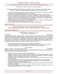 IT resume samples - Senior Software Engineer