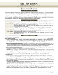 IT resume samples - Senior Systems Engineer