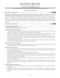 IT resume samples - System Administrator