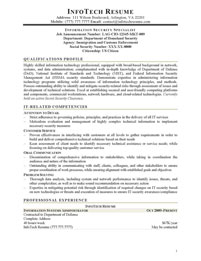 IT resume samples - Information Security Specialist for Federal