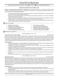 IT resume samples - Information Technology Manager